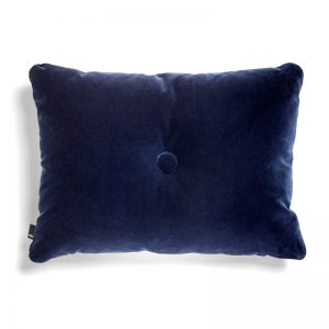 Hay pude velour, Dot Soft i navy