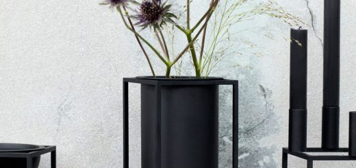 Lolo Kubus Vase By Lassen i Sort